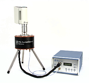 Viscosity Measuring Site VM: Portable rotational viscometer for the determination of absolute viscosity, ideal for crude oils, petroleum, in the laboratory or mobile in the field in transport case. -30 °C to +150 °C (-22 °F to +302 °F) according to DIN 53019 / ISO 3219, PSL Systemtechnik, Made in Germany.