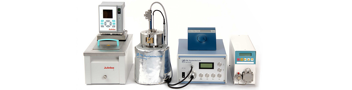 Automated Flocculation Titrimeter FT5: Laboratory instrument to test asphaltene inhibitors and crystallization of crude oil  at high pressure up to 700 bar and high temperature, reservoir conditions. Made in Germany.