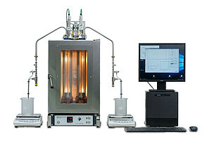 PSL Systemtechnik Foam Tester FOA - Complete System with two test tubes