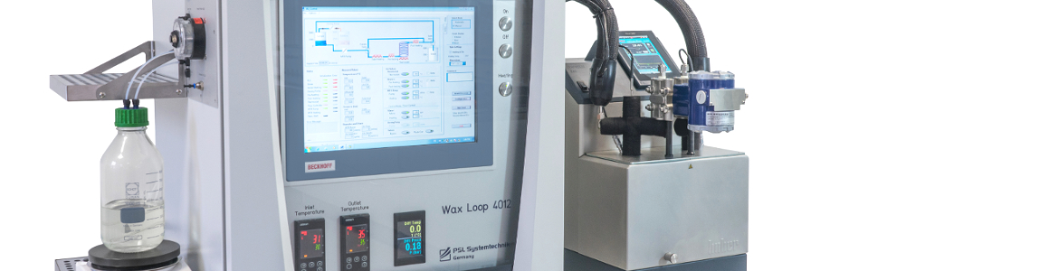 Wax Flow Loop WL4012 from PSL Systemtechnik, Germany, Laboratory instrument to measusre wax deposition and wax inhibitors in pipelines