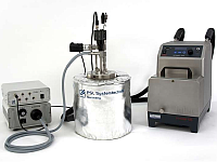 Gas hydrate autoclave: Measuring device for examination of gas hydrate formation, gas hydrate inhibitors and anti-agglomerants.