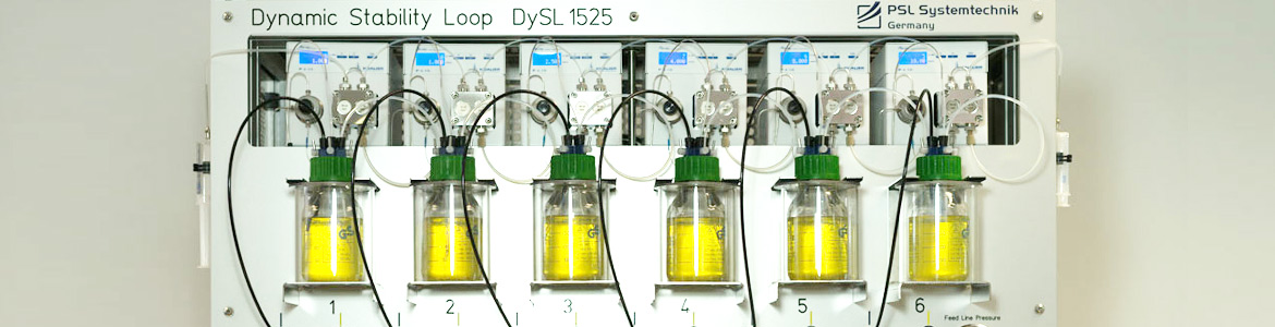 Dynamic Stability Loop: fully automatic laboratory instrument for test of long-term stability of chemicals. Stress test through multiple heating and cooling cycles. Small sample quantities, PSL Systemtechnik, Germany